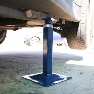Where to place jack stands at the rear